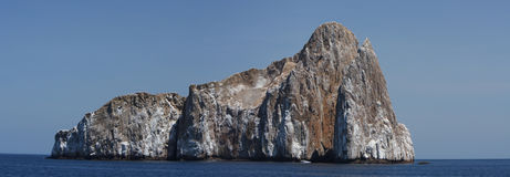 Panorama of Sleeping lion rock in Galapagos Royalty Free Stock Images