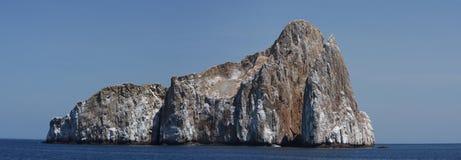 Panorama of Sleeping lion rock in Galapagos Royalty Free Stock Images