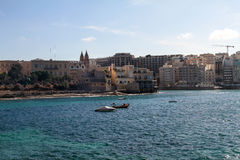 Panorama of Sliema / St. Julians, Malta. Panorama of Sliema / St. Julians, coastline in Malta Stock Photography