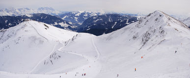 Panorama - slopes, Alps, Austria Stock Photography