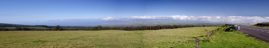 Panorama of the slopes of Haleakala National Park Royalty Free Stock Photos