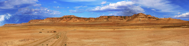 Panorama slopes plateau Ustyurt in Kazakhstan Royalty Free Stock Photos