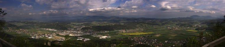 Panorama Slovénie Photo stock