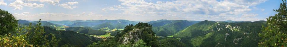 Panorama of Slovak landscape Royalty Free Stock Image
