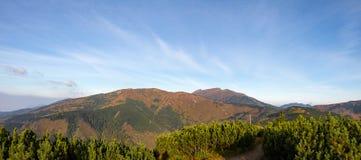 Panorama of Slovak Low Tatras mountains Stock Image