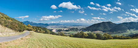 Panorama of Slovakia mountain countryside Stock Photo