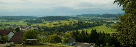 Panorama of Slovenian countryside Royalty Free Stock Photos