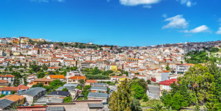 Panorama of a small town in Sardinia Royalty Free Stock Image