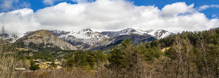 Panorama at small village of Le Vernet in the french Alps Royalty Free Stock Photos