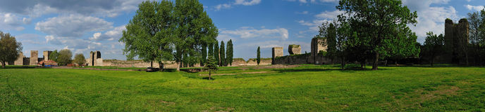 Panorama of Smederevo Fortress, Serbia Royalty Free Stock Photography