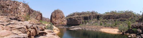 Panorama - smith rock, Nitmiluk National Park, Northern Territory, Australia Stock Images