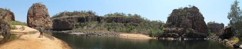 Panorama - smith rock, Nitmiluk National Park, Northern Territory, Australia Stock Images