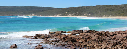 Panorama of Smith's beach south  Western Australia. The lovely panorama of Smith's beach a remote secluded swimming beach  in south  Western Australia displays Royalty Free Stock Photo