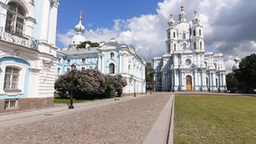 Panorama of the Smolny Cathedral stock footage