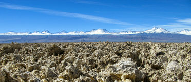 Panorama of snow-covered mountains in the Atacama Desert Chile Stock Photo