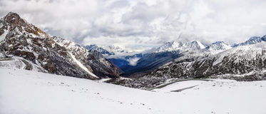 Panorama Snow Mountain Royalty Free Stock Photography