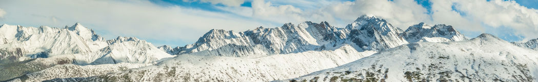 Panorama Snow Mountain in China Stock Images