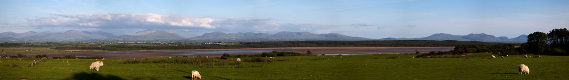 Panorama of Snowdonia Stock Images