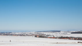 Panorama of snowy winter landscape Stock Image