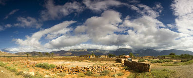 Panorama of socotra island. Stitched Panorama, Panorama of socotra island with village and country live Stock Photo