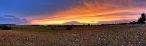 panorama- solnedgång för afton Royaltyfria Foton