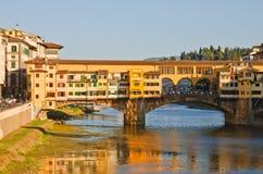 Panorama- solnedgångsikt till Florence, Tuscany, Italien Royaltyfri Bild