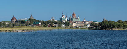 Panorama of Solovetsky Monastery, Russia Royalty Free Stock Photo