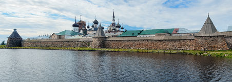 Panorama of Solovetsky Monastery, Russia Stock Image