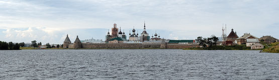 Panorama of Solovetsky Monastery, Russia Royalty Free Stock Images