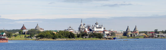 Panorama of Solovki monastery Stock Images
