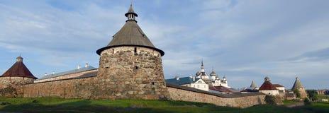 Panorama of Solovki monastery Stock Photo