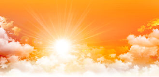 Panorama- soluppgång Arkivfoto