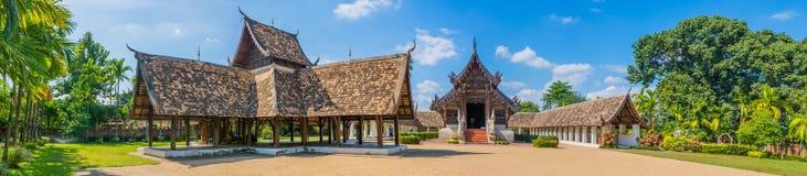 panorama som skjutas av Wat Ton Kain, i Chiang Mai Thailand Arkivfoto