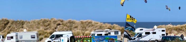 Panorama som surfar område Arkivfoto