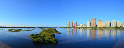 A Panorama of Songhua River. Songhua River is a branch of Heilongjian River which is the fourth largest river in China. This picture shows the panorama of Stock Photos