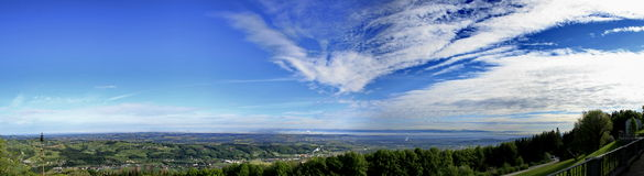 Panorama from Sonntagsberg Stock Photography