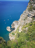 Panorama of the Sorrento coast. View of the beautiful Sorrento coast - Italy Royalty Free Stock Image