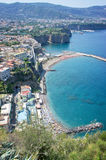 Panorama of the Sorrento coast. View of the coastline of Sorrento - Italy Royalty Free Stock Photo