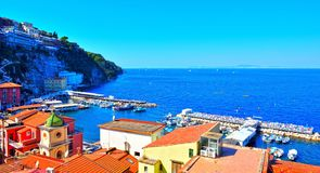 Sorrento napoli Italy. Panorama of Sorrento napoli Italy stock photo