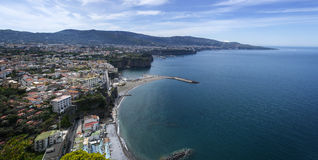 Panorama of Sorrento, Sant'agnello,. SANT-AGNELLO, ITALY - April 23. 2015.Panorama of Sorrento, Sant'agnello, gulf view. The province of Campania. Italy Royalty Free Stock Photography