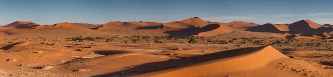 Panorama of the Sossusvlei dune field Stock Photos