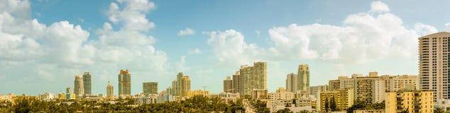 Panorama of South Beach Royalty Free Stock Photos