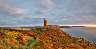 Panorama of South of the Isle of Man. Milner Tower Royalty Free Stock Images