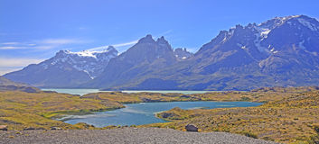 Panorama of the Southern Andes Royalty Free Stock Photography