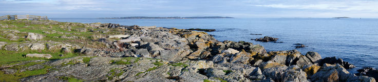 Panorama of southern Vancouver Island, BC Canada Stock Photography