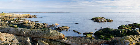 Panorama of southern Vancouver Island, BC Canada Stock Image