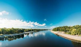 Panorama Of Sozh River, City Park And Cathedral Of St. Peter And Royalty Free Stock Photography