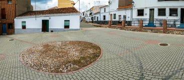 Panorama spagnolo del villaggio Fotografie Stock