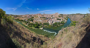 panorama spain toledo royaltyfria bilder