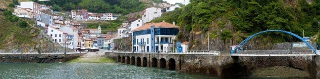 Panorama of a Spanish seaside village Stock Photos